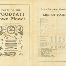 Image of The Woodyatt Lawn Mower Instruction Manual - Page 1 & 2