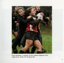 Image of Karen Sheehan playing with the Guelph Gryphons Girls Rugby