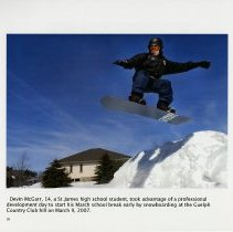 Image of Devin McGarr Snowboarding, Guelph Country Club, page 16