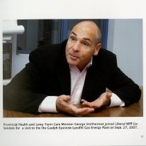 Image of Health Minister George Smitherman in Guelph, 2007