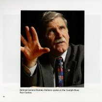 Image of General Romeo Dallaire speaking at the River Run Centre