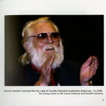Image of Ronnie Hawkins receives Our Lady of Lourdes National Leadership Award