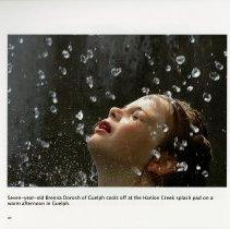Image of Brennaq Dorosh of Guelph at the Hanlon Creek splash pad, page 30