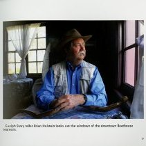 Image of Guelph Story-teller, Brian Holstein, at the Boathouse tea-room, page 31