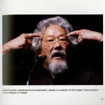 Image of David Suzuki at the Upper Grand District School Board of Guelph, page 35