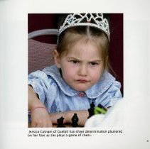 Image of Jessica Cotnam of Guelph playing chess, page 41
