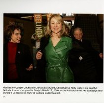 Image of Guelph Councillor Gloria Kovach with Belinda Stronach, 2004