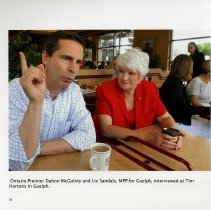 Image of Ontario Premier Dalton McGuinty & Liz Sandals, MPP for Guelph