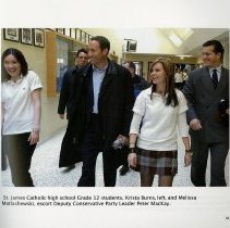 Image of Peter MacKay at St. James Catholic High School, page 53