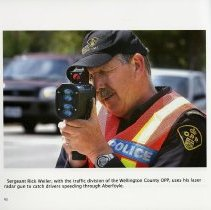 Image of Sergeant Rick Weiler, traffic division of of the Wellington County OPP