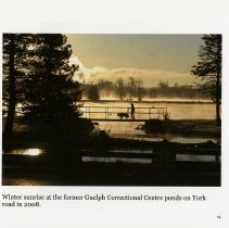 Image of Sunrise at the former Guelph Correctional Centre ponds, page 65