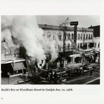 Image of Budd's Fire on Wyndham Street, Jan.10, 1968