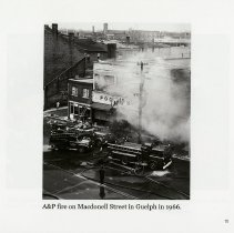 Image of A&P fire on Macdonell Street in Guelph, 1966