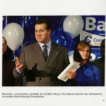 Image of Brent Barr, conservative candidate for Guelph riding
