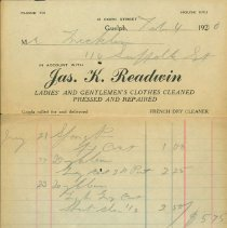 Image of Readwin's Clothing Reciept