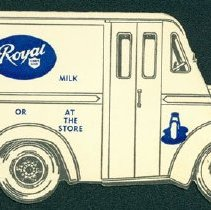 Image of Royal Milk Advertisement Card - Front