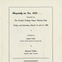 Image of Rhapsody on Ice, March 13 and 14, 1959, p.1