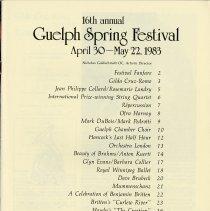 Image of 1983 Guelph Spring Festival Program, p.1