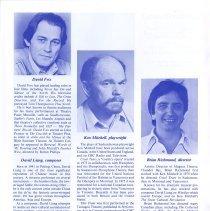 Image of David Fox, Ken Mitchell, Brian Richmond, p.18
