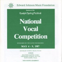 Image of Ad for 1987 National Vocal Competition, p.26