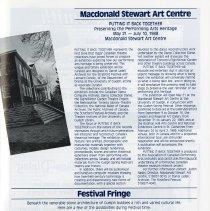 Image of Macdonald Stewart Art Centre; Festival Fringe, p.25