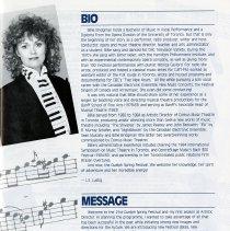 Image of Biography, Billie Bridgeman, Artistic Director, p.3