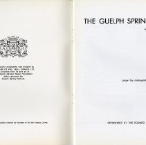 Image of Guelph Spring Festival, May 1st to 15th, 1971, p.1