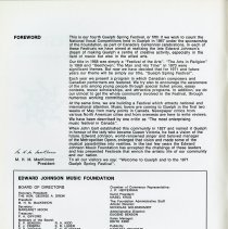 Image of Foreword by President of Edward Johnson Music Foundation, p.2