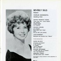 Image of Program, Beverly Sills, Soprano, p.13