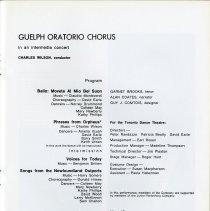 Image of Guelph Oratorio Chorus, Program, p.17