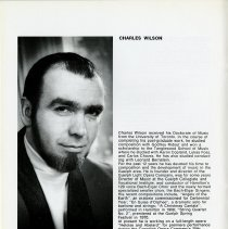 Image of Biography and Photo of Charles Wilson, p.18