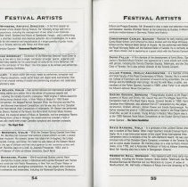 Image of Festival Artists, pp.54-55