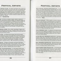 Image of Festival Artists (cont.), pp.56-57