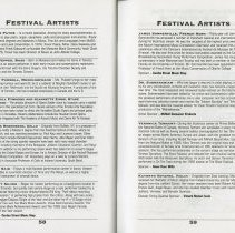 Image of Festival Artists (cont.), pp.58-59