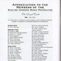 Image of Members of Edward Johnson Music Foundation, p.60