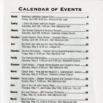 Image of Calendar of Events, p.1