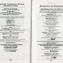 Image of Edward Johnson Music Competition; Winners in Concert, pp.50-51