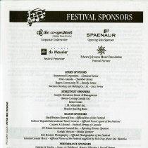 Image of Festival Sponsors, p.1