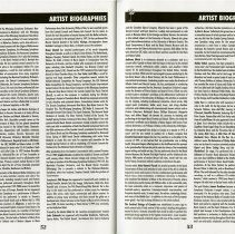 Image of Artist Biographies (cont.), pp.52-53