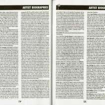 Image of Artist Biographies (Cont.), pp.54-55