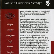 Image of Artistic Director's Message, p.3