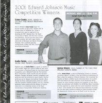 Image of 2001 Edward Johnson Music Competition Winners, p.12