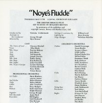 """Image of """"Noye's Fludde,"""" Cast and Orchestra, p.30"""