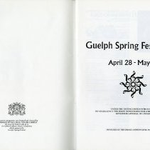 Image of Guelph Spring Festival '72, April 28 - May 13, p.1