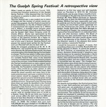 Image of The Guelph Spring Festival: A Retrospective View, p.19