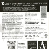 Image of Guelph Spring Festival Music Competition 2003, p. 18