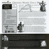Image of Acis and Galatea, Opening Night Gala, p.7