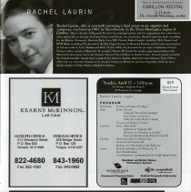 Image of Rachel Laurin Program, p.9