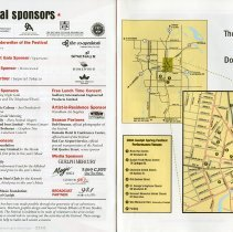 Image of Festival Sponsors; Map of Downtown Guelph, pp.30-1