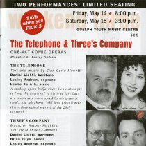 "Image of ""The Telephone & Three's Company, One Act Comic Operas,"" p.19"